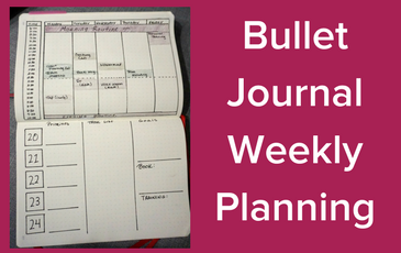 How to bullet journal your weekly planning