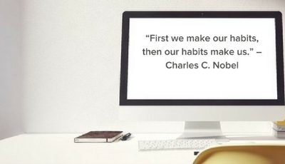 Focus on creating good habits to become the person you need to be to reach your goals